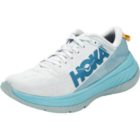 Hoka One One Carbon X Zapatillas Running Mujer, white/angel blue